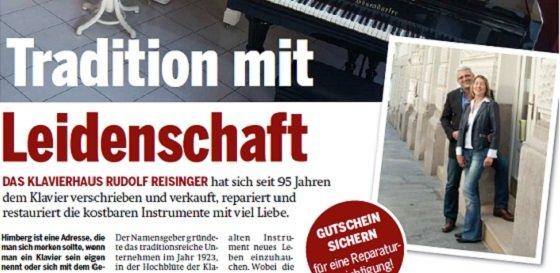 Klavierhaus Reisinger Zeitungsartikel